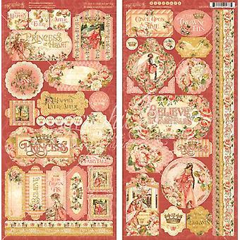Grafisk 45 Prinsessan Klistermärken