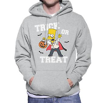 The Simpsons Trick Or Treat Bart Halloween Men's Hooded Sweatshirt
