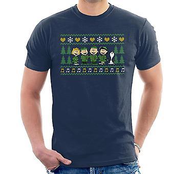 Arachidi Personaggi Xmas Coro Carol Uomini' T-Shirt