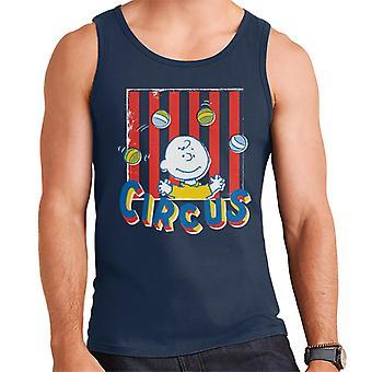 Peanuts Circus Juggling Charlie Brown Men's Vest