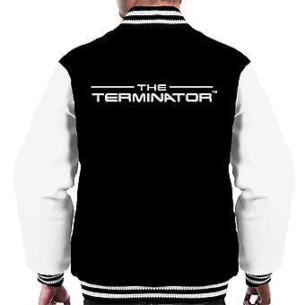 The Terminator Title Font Logo Text Men's Varsity Jacket