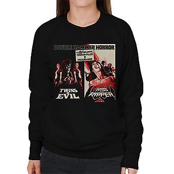 Hammer Horror Films Twins Ripper terrificante Doppia Bill donne 's Sweatshirt