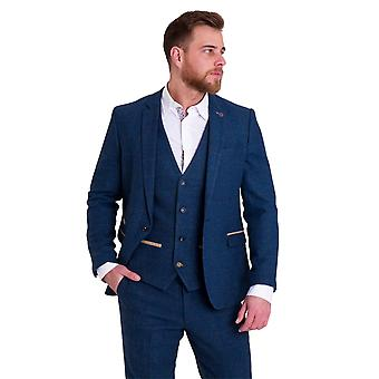 Marc Darcy Dion Blue Vintage Tweed Suit Blazer