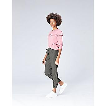 Encontrar. Pantalones estándar para mujer con cordón y ajuste relajado, gris, M (EE.UU. 8)
