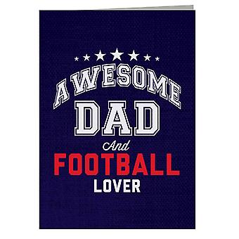 Awesome Dad And Football Lover Greeting Card