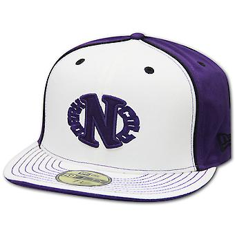 Darkncold X New Era 59FIFTY Egg Logo fitted Cap White Purple Back