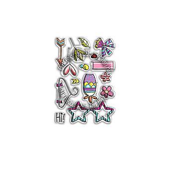 Polkadoodles Hanging Garden Clear Stamps