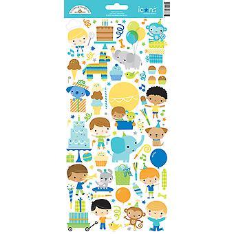 Adesivo per le icone del tempo di progettazione di Doodlebug