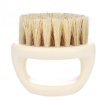 Wild Boar Razor Brush with Handle - Facial Beard Cleaning