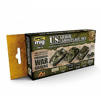 Ammo by Mig Wargame Acrylic Paint Sets - US Armour Set