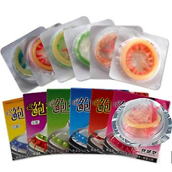 5 stk voksen penis ermet sex produkter - sensasjon klasse kvinnelig g spot vaginal stimulering kondomer