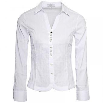 Vlt's By Valentina's White Stretch Cotton Shirt