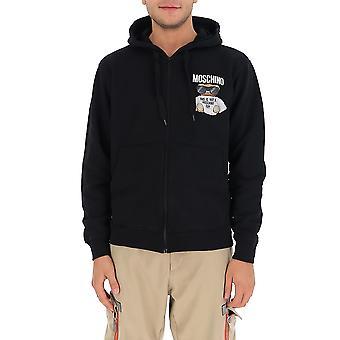 Moschino 17015227v1555 Men's Svart Bomull Sweatshirt
