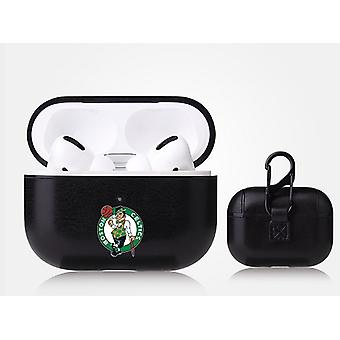 Boston Celtics NBA Fan Brander Zwart Lederen AirPod Pro Case