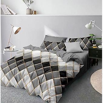 Nowoczesny 3d Geometryczny drukowany zestaw kołdry z poszewką na poduszkę