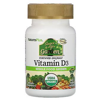 Nature-apos;s Plus, Source de vie, Jardin, Vitamine D3, 60 Capsules Végétaliennes