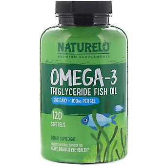 NATURELO, Omega-3 Triglyceride Fish Oil, 1,100 mg, 120 Softgels