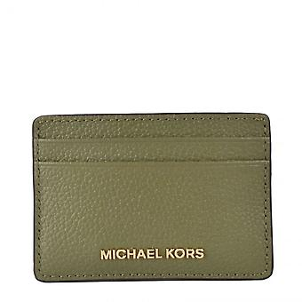 MICHAEL Michael Kors Jet Set Travel Leather Card Holder Army Green