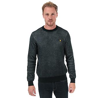 Men's Lyle And Scott Crew Neck Knitted Jumper in Blue