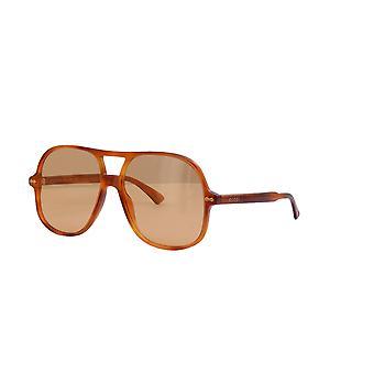 Gucci GG0706S 005 Havana/Żółte okulary przeciwsłoneczne