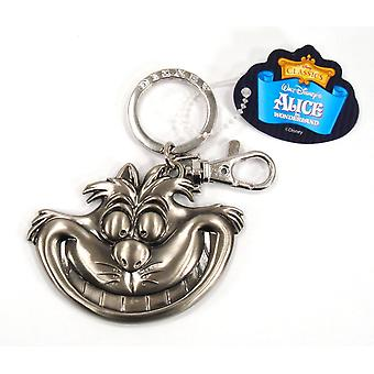 Metal Key Chain - Disney - Alice in Wonderland - Cheshire Cat Pewter 25203