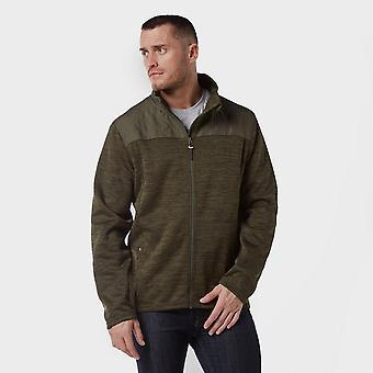 Brasher Men's Quilted  Adventurer Long Sleeve Fleece Green
