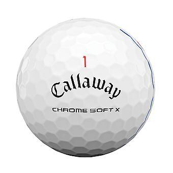 Callaway Unisex Chrome Soft X Triple Track 1 dussin golfbollar