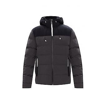 EA7 by Emporio Armani Bomber Hooded Zip Up Dark Grey Jacket