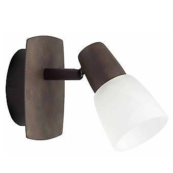 BRILLIANT lampe Milos væg spot gamle kobber / hvid-alabast | 1x R50, E14, 40W, egnet til reflektorlamper (ikke inkluderet)
