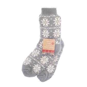 Country Club Nordic Slipper Socks, Grey