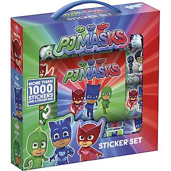 1000 stickers Totum PJ Masks The Pajama Heroes Sticker Box With Drawing Block