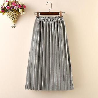 Child Skirt Autumn Winter Kids Pleated Smooth Toddler Baby Long Skirts 3-14y
