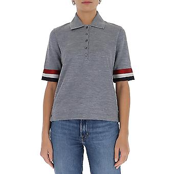 Thom Browne Fjp037a05596055 Women's Grey Cotton Polo Shirt