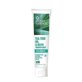 Desert Essence Tea Tree Oil & Neem Toothpaste Wintergreen, 6.25 OZ