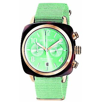 Briston Clubmaster Classic Acetate Chronograph Watch - Mint Green/Rose Gold