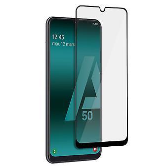 Näytönsuoja Galaxy A50 Karkaistu lasi 9H Tiger Glass Muvit Reunat musta