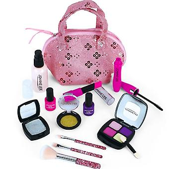 Pretend Play Princess Pink Makeup Kids, Make Up Toy Set- Safety Non-toxic Kit