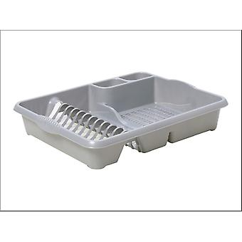 What More Homewares Dish Drainer Silver Large 11295