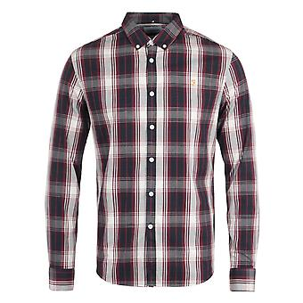 Farah Brewer Tartan Slim Fit Raspberry Shirt