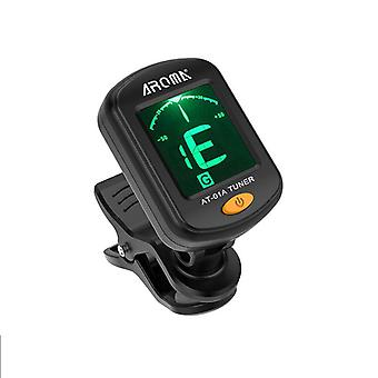 Guitar Tuner Rotatable Clip-on Tuner Lcd Display For Chromatic Acoustic Guitar
