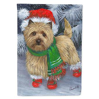 Cairn Terrier Christmas Red Boots Flag Canvas House Size