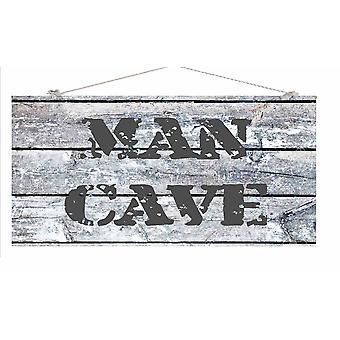 """A 6 X 12"""" X 1/4"""" Wood Sign Man Cave"""
