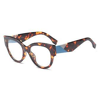 Óculos ópticos de acetato feminino moda óculos de grande aro grande