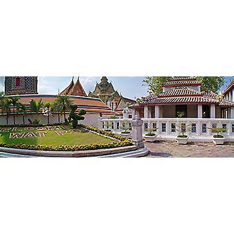 """طباعة ملصق مدخل إلى بانكوك معبد """"وات تايلند بو"""""""