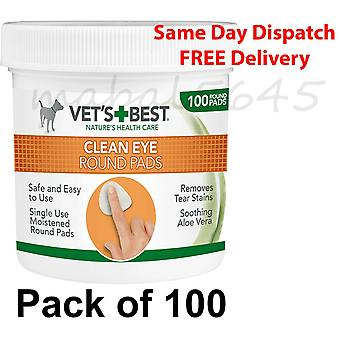 Vets Best Dog Eye Cleansing Pad (Pack of 100)