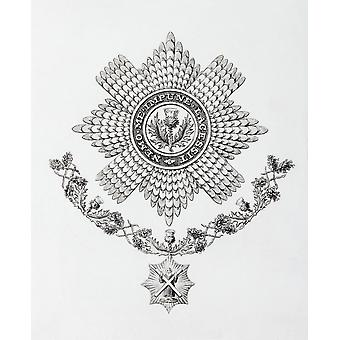 Star Collar And Badge Of The Order Of The Thistle From The Cyclopaedia Or Universal Dictionary Of Arts Sciences And Literature By Abraham Rees Published London 1820 PosterPrint