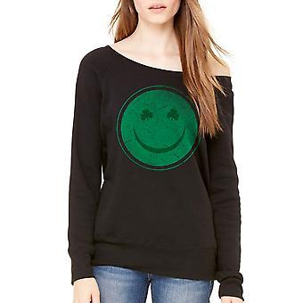 Humor Happy Irish Women's Black Funny T-shirt