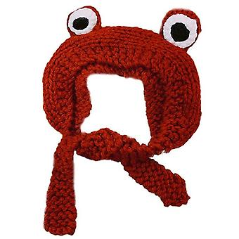 Novelty Cute Big-eyed Frog Ears Knitted Cap