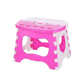 25*19*19cm Portable Plastic Folding Step Stool Easy Storage Pink