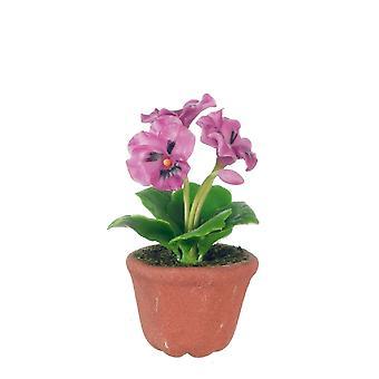 Nukkekodin pikkuhousut kasviruukussa Miniatyyri kukat Puutarha Lisälaite 1:12